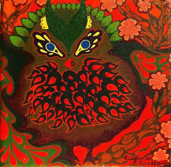 owl by Eugenia Giallousi, via Behance
