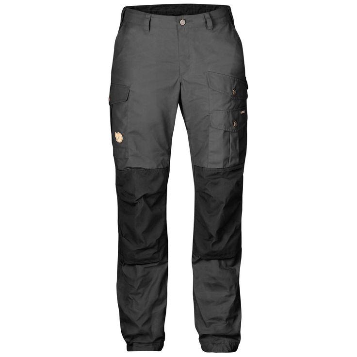 Slitesterk vandringsbukse med lavt liv og normal passform i G-1000. Forsterkninger på baken og knærne og 7 praktiske lommer.