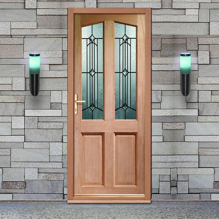 Richmond External Wooden Door is Dowel Jointed with Donne Style Double Glazing. #glazedfrontdoor #traditionalglazedfrontdoor #frontdoor