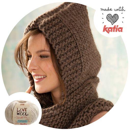 Cuello Con Capucha Especial Love Wool: 8 Patrones Para