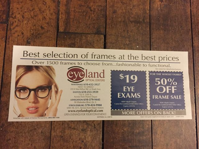 Check out some valuable offers from our April savings envelope! #coupons #Valpak #digitalmarketing     #eyeland #glasses #eye #exam #senior #discounts  Want your coupon featured here? Feel free to contact us for all your digital and print advertising needs. Check our profile for contact info!