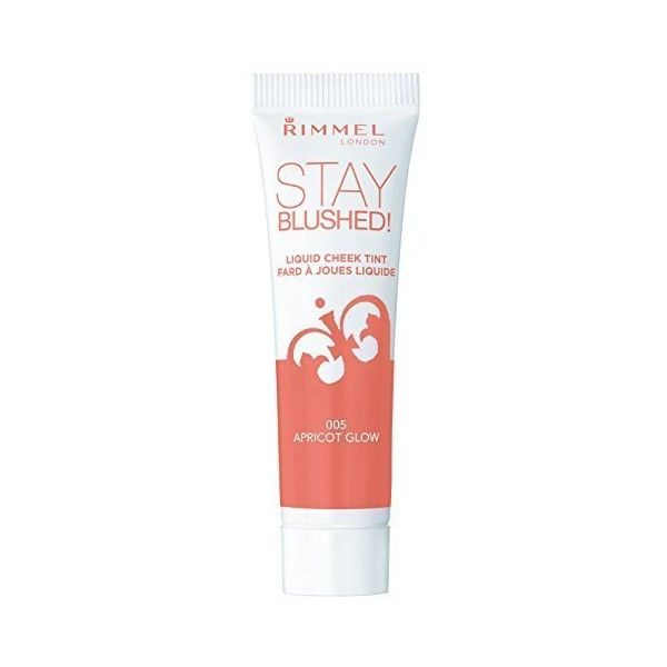 Rimmel Stay Blushed Liquid Cheek Tint, Apricot Glow, 0.47 Fluid Ounce... ($30) ❤ liked on Polyvore featuring beauty products, makeup, cheek makeup, blush, rimmel and rimmel blush