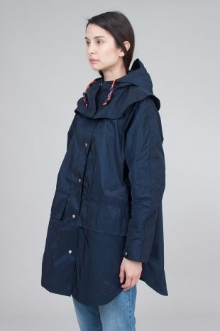 Folk Womens - Poncho Kagool - Bright Navy | Womens - Outerwear