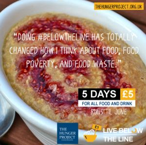 Live Below the Line | £5 - 5 Day Fundraising Challenge #BelowtheLine | The Hunger Project UK