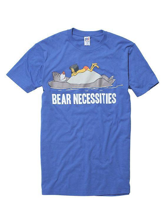 Disney The Jungle Book Bear Necessities T-Shirt, BLUE