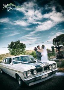 Bride and groom at Keilor Hotel