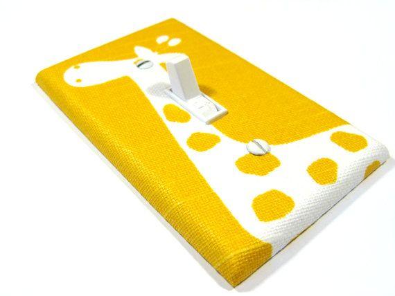 Giraffe Nursery Decor Light Switch Cover Bright by ModernSwitch, $10.00