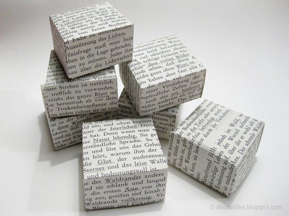 Schachteln aus alten Büchern - Handmade Kultur