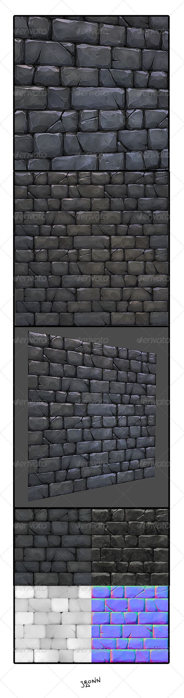 Example of stone wall