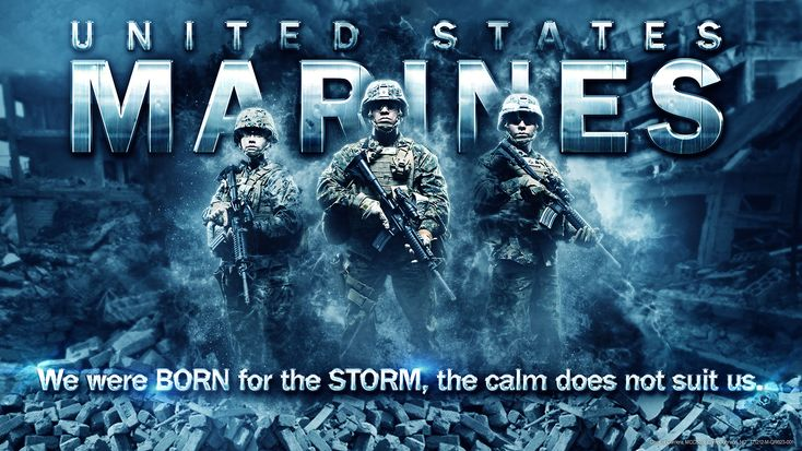 United States Marines: We were BORN for the STORM, the calm does not suit us.