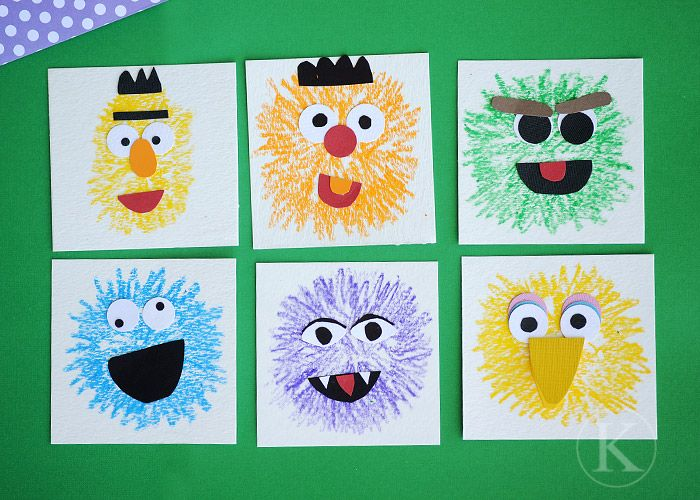 Sesame Street Crafts - I will def. be doing a lot of these once CJ is a bit older.