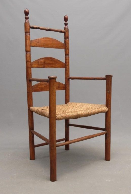 Lot 65 18th C Armchair Antique New England Life