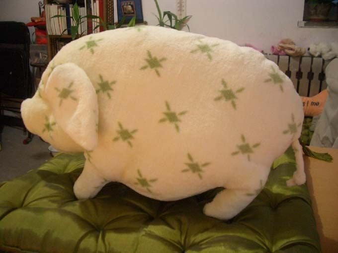 How to do a little pig pillow #sewing #patter