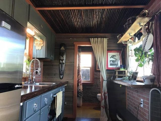 The Whittle Wagon A 218 Sq Ft Tiny House Built Onto Gooseneck Trailer And Currently Available For Sale In Fort Worth Texas