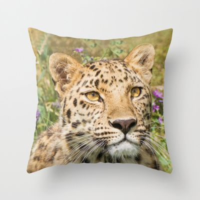 LEOPARD LOVE Throw Pillow by Catspaws - $20.00