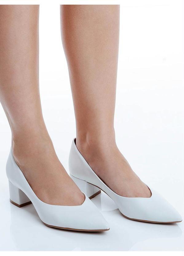 Sapato Scarpin Bottero Branco Branco   – Products