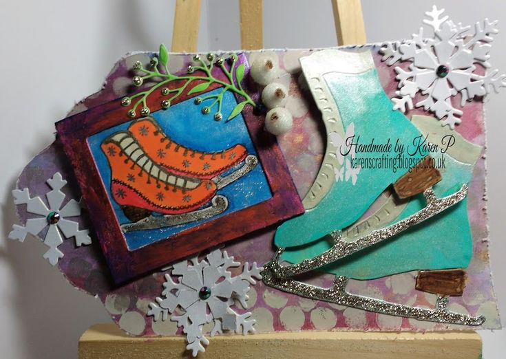 Karen's Crafting Obsessions: greeting card  with Rubber Dance Stamps...