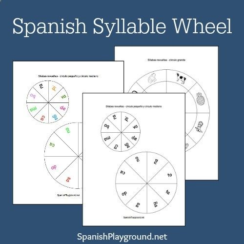 Spanish syllables! Kids use printable wheels with syllables and pictures to practice vocabulary, letter sounds and reading skills.