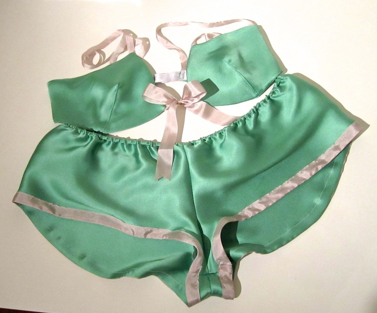 Bra and Tap Pants Made using the Ma Cherie French Knickers pattern by Mrs. Depew Vintage.