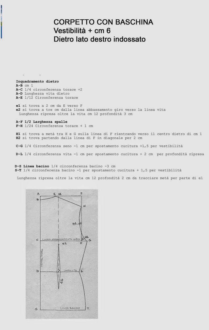 I Quaderni di Studio Manie: REGOLE PER LA COSTRUZIONE ABITO CORPETTO BASE CON ...