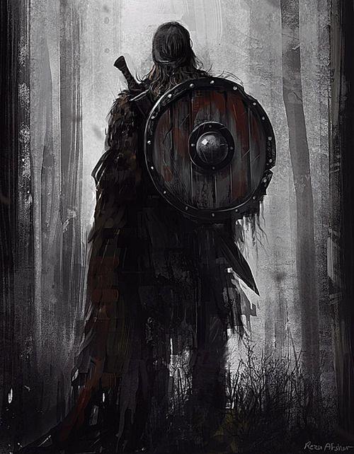 Not sure of artist's intent, but this could well be one of my Rohirric warriors.