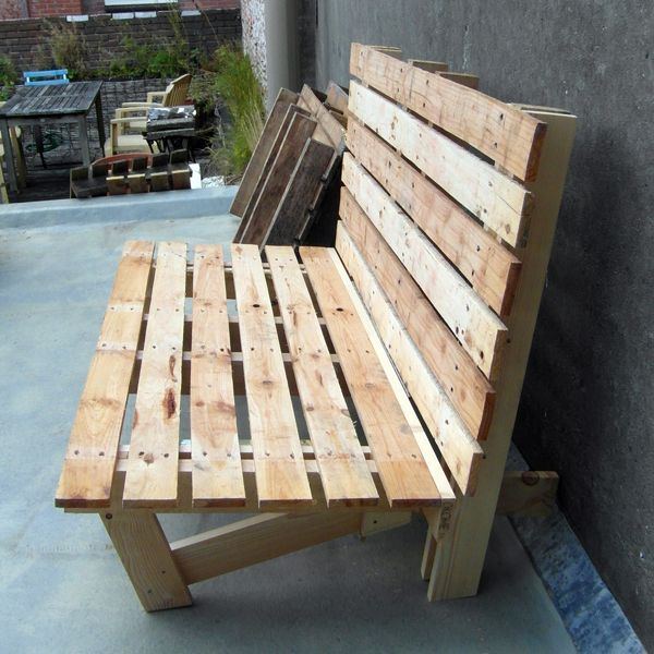 bench made out of pallets outdoors pinterest