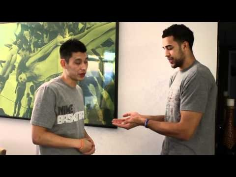 "3/15/12 - Jeremy Lin & Landry Fields explain their ""not-so-secret"" handshake"