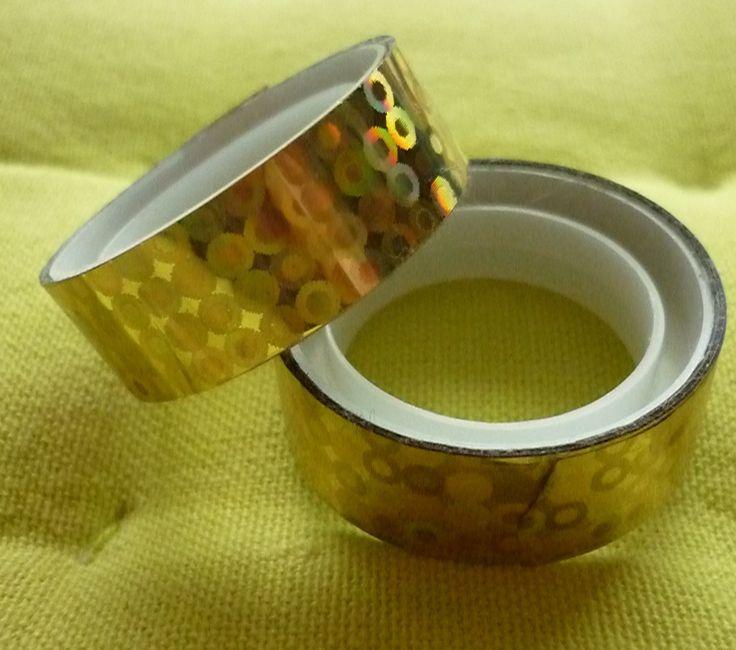 Ruban adhésif jaune petits ronds. : Autres Scrapbooking par laboiteabijouxnanny
