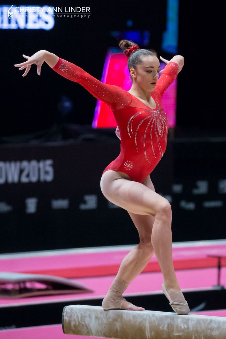 Maggie Nichols of the United States on beam, 2015 World Championships Team Final