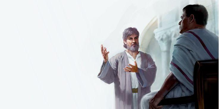 Giuseppe di Arimatea parla con Ponzio Pilato