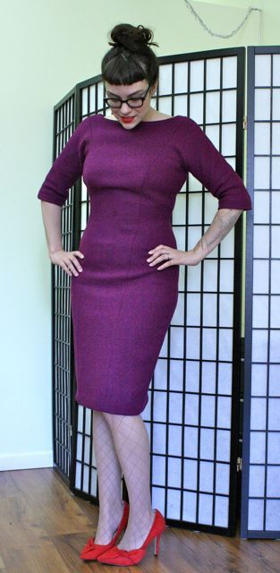 Gertie's New Blog for Better Sewing: The Finished Wiggle Dress in Harris Tweed