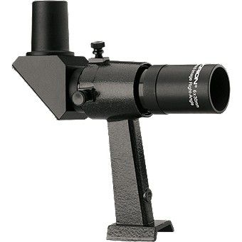 Black 6x30 Right-Angle Correct-Image Finder: Sometimes looking through a straight finder scope can be a… #Telescopes #Binoculars #Optics