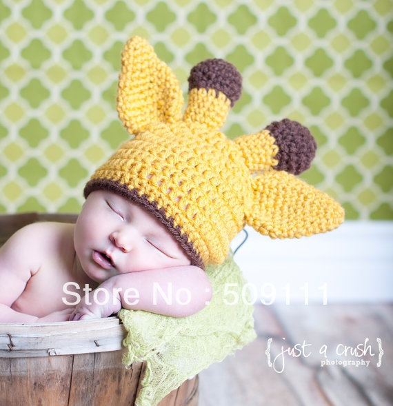 Baby Giraffe Hat Pattern Toddler Crochet animal Beanie and Earflap Beanies Infant Handmade hat caps New style 1pc H234A-in Hats & Caps from Apparel & Accessories on Aliexpress.com