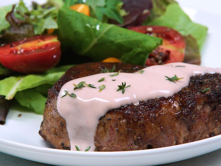 Rosé Butter Sauce | This buttery wine sauce gets its rosey hue from rosé wine, pink shallot, and pink peppercorns. The rich sauce is a perfect finishing touch on steak, chicken, or pork, and delivers a whimiscal pop of color to the plate.