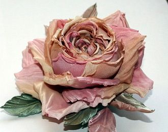 110 best leather and silk flowers images on pinterest silk antique silk millinery rose mightylinksfo