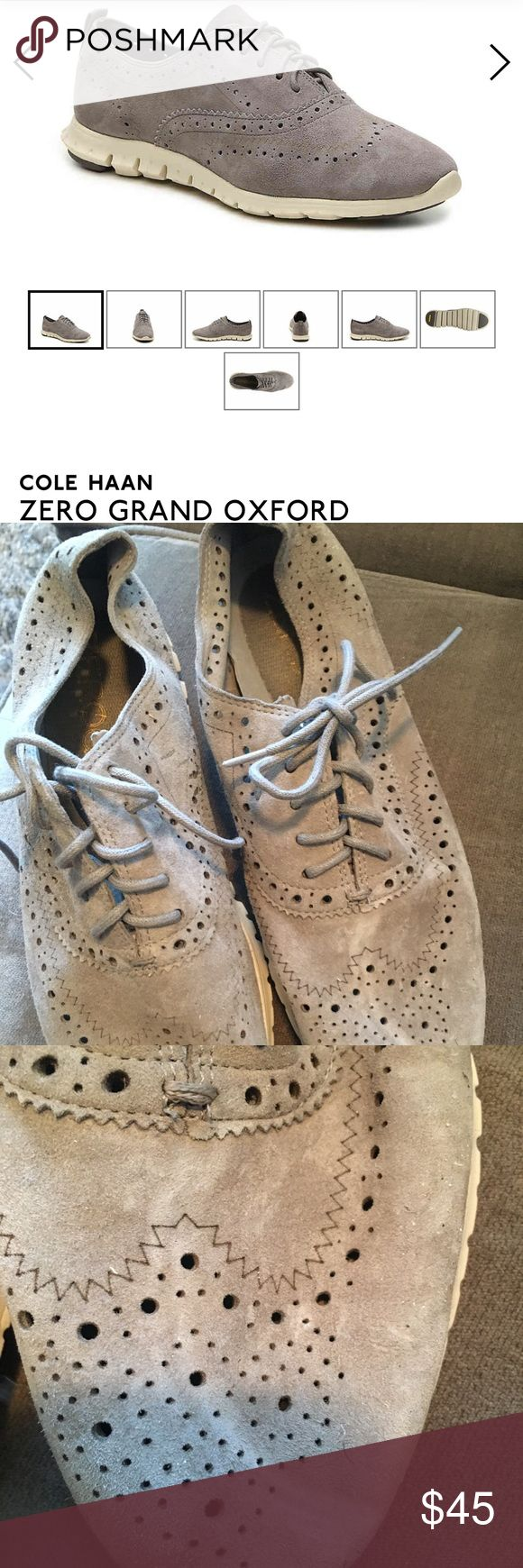 Cole Han Zero Grand Grey Suede Sneakers Sz 7.5 Ridiculously comfy yet professional, worn less than 10 times, no scuffs or marks on the suede. Beautiful Grey Cole Haan Shoes Sneakers