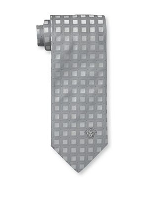 59% OFF Versace Men's Blocks Tie, Grey