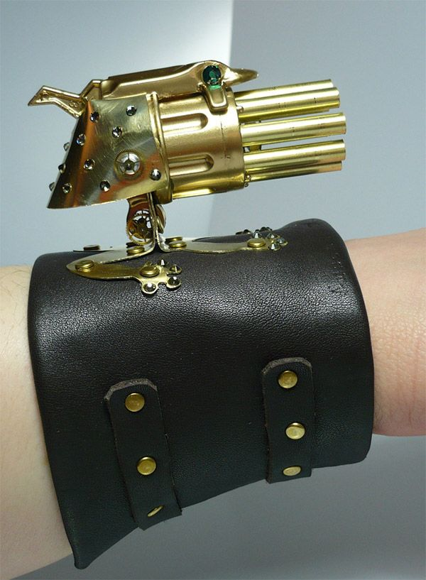 Lady Froggy Steampunk Gatling Gun for Dainty Death Dealing for Steampunk Cosplay