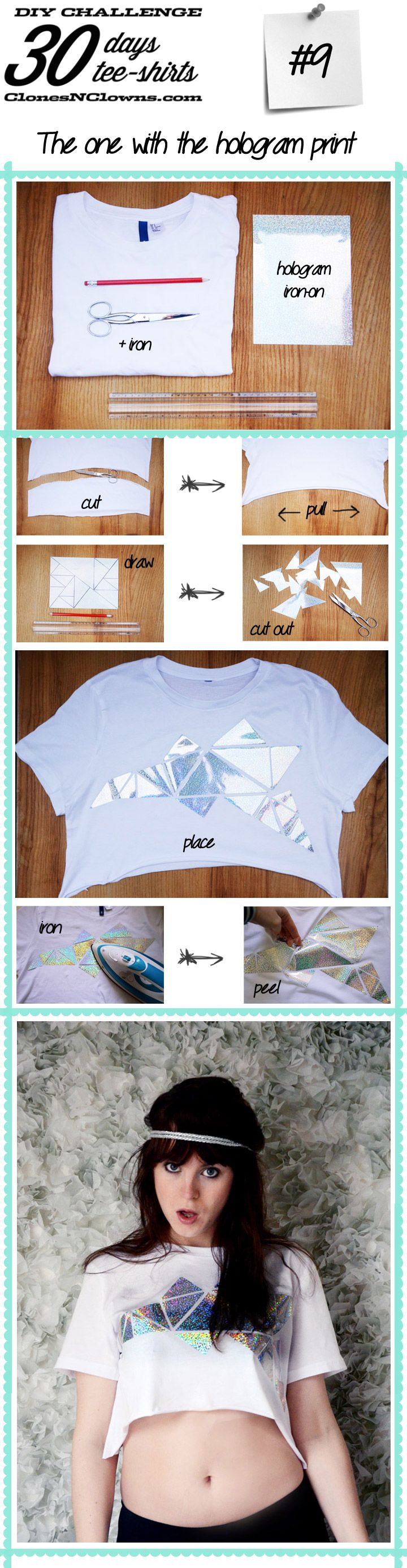 DIY no sew hologram crop topDIY BLOG