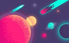 WALLPAPERS HD: Planets in Space Minimal