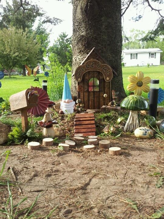Gnome Garden: 12 Best Fairy/Gnome Village Ideas Images On Pinterest