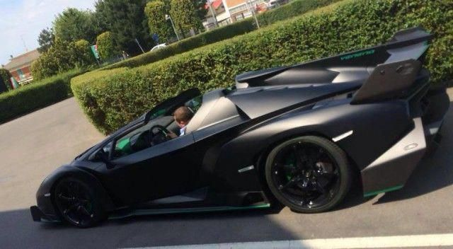 Matte Black Lamborghini Veneno Roadster Captured
