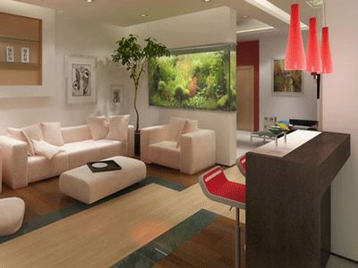 apartment-decorating-ideas-fish-tanks-glass-aquarium