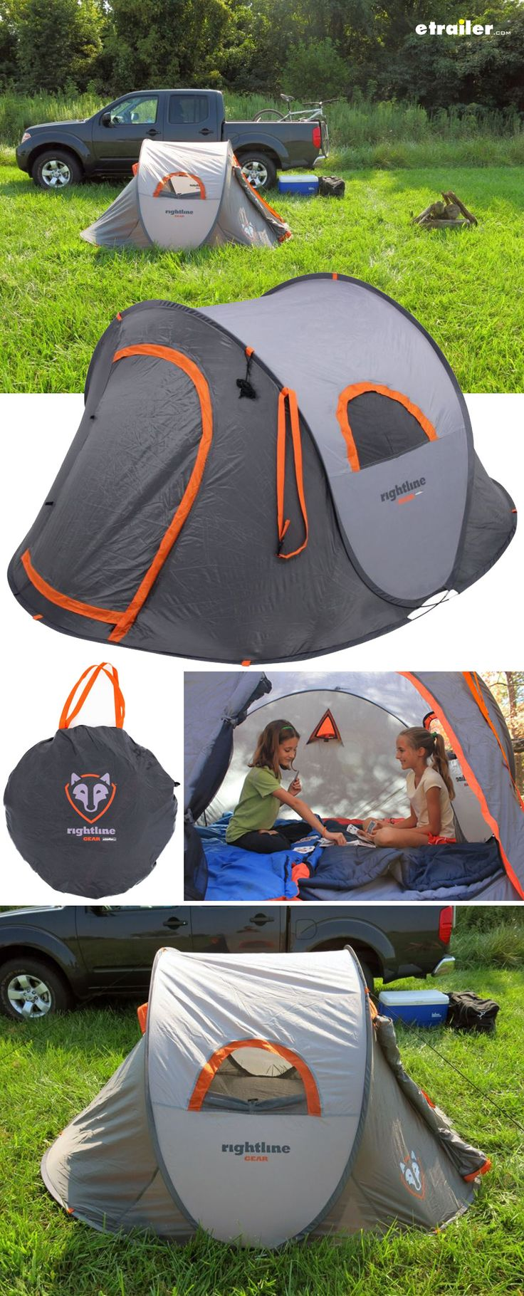 Pop-Up tent goes up in seconds! Packs small and super light for easy transport and storage.