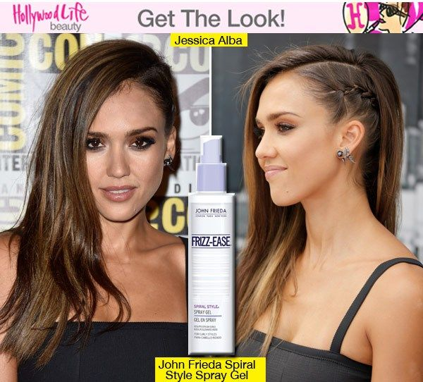 Jessica Alba Braided Hair Comic Con