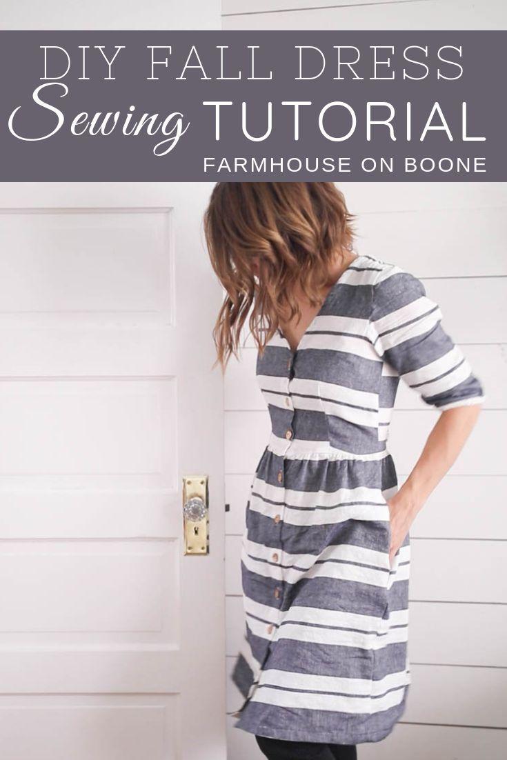 DIY Kleid für Herbst Nähen Tutorial Megan Nielsen Liebling reicht Kleid