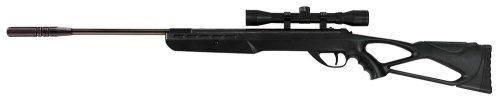 """Umarex 2251300 Surge   Included 4×32 Scope. Powered by """"Break Action"""". Shoots Over 30 Yards. Rated 4 1/2 Stars on amazon. Snipers are the ultimate weapon, too far to be shot, close enough to shoot.  What amused me was how it required 25 lbs. of force to cock, just imagine the power on each shot.  The reviews on this product are nothing but positive comments from people who were extremely impressed."""