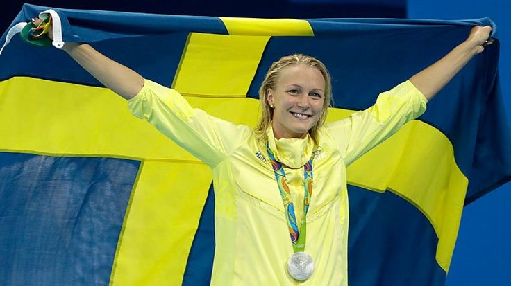 Sarah Sjöström, Olympic Swimmer who won three Rio medals; gold, silver and bronze
