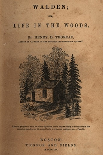 """henry david thoreau and the novel walden """"walden yesterday i came here to live"""" that entry from the journal of henry david thoreau, and the intellectual journey it began, would by themselves be enough to place thoreau in the."""