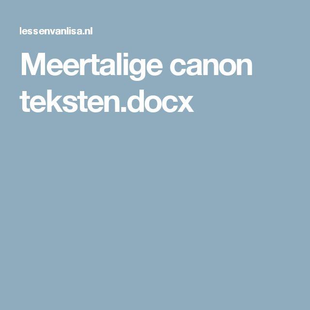 Meertalige canon teksten.docx